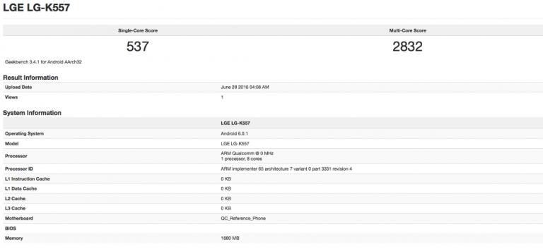 Satu Lagi, Perangkat Baru K Series Racikan LG Muncul di Geekbench