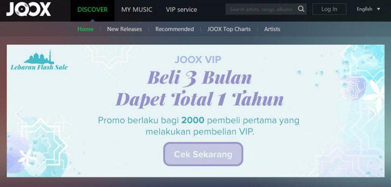JOOX Sebar Bingkisan Lebaran untuk 2000 Orang, Gratis Paket VIP Setahun