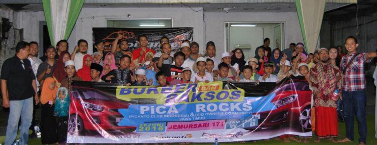 Jelang Idul Fitri 2016 PiCA dan Rocks Lakukan Baksos di Surabaya dan Bandung