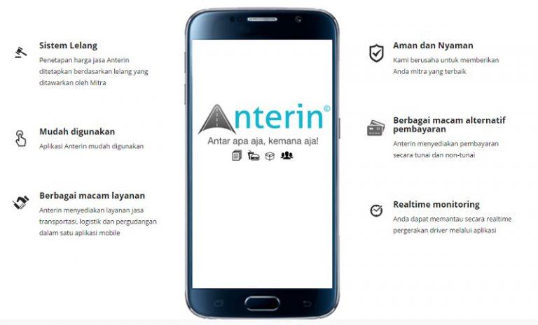 Anterin Siap Bertarung di Pasar Transportasi & Logistik Online Indonesia