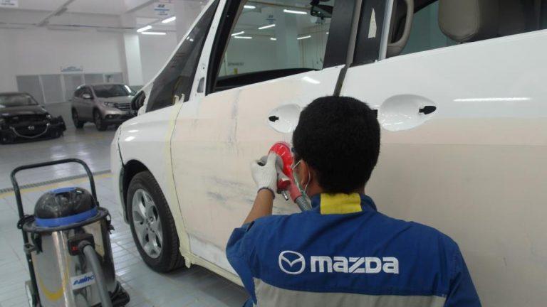 """Mazda Cibubur Dapatkan """"Certified Body and Paint Workshop"""" dari Mazda Motor Indonesia"""