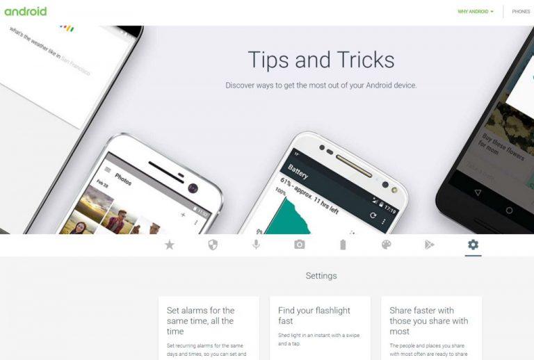 Google Android.com Akhirnya Punya Kanal Khusus untuk Tips dan Trik