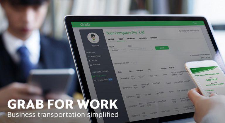 Grab for Work, Solusi Pengelolaan Biaya Perjalanan Bisnis dari Grab