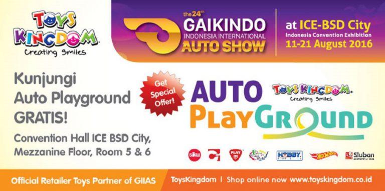 Partisipasi di GIIAS 2016, Toys Kingdom Hadirkan Arena Bermain Anak