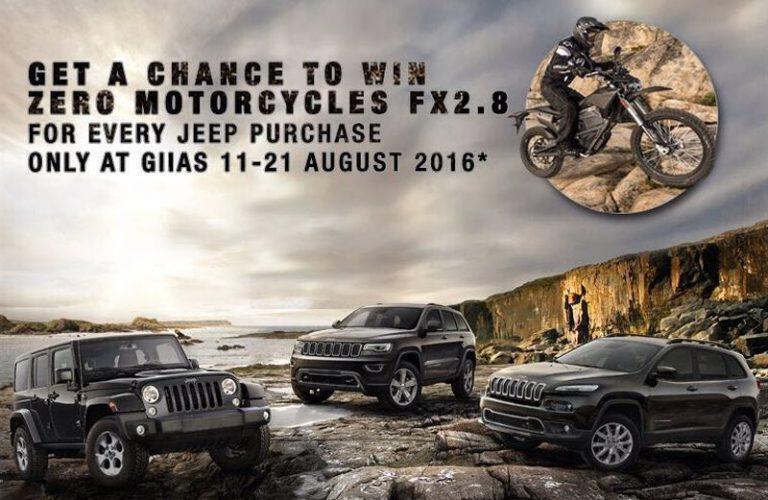 Promo Garansindo di GIIAS: Beli Jeep Berpeluang Dapat Gratis Motor Listrik Zero Motorcycles FX 2.8