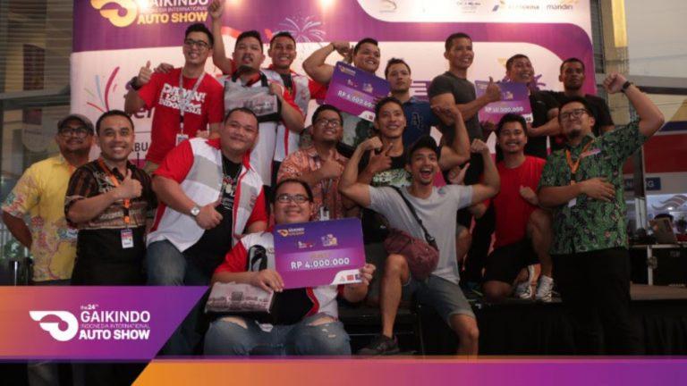 Tiga Sketsa Menjadi Tim Pemenang Dalam Lomba Tarik Truk Fuso di GIIAS 2016
