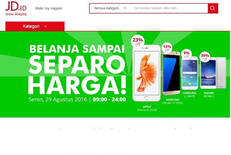 Hanya Hari Ini, JD dan LINE Indonesia Gelar Program Diskon Setengah Harga untuk Pengguna Line