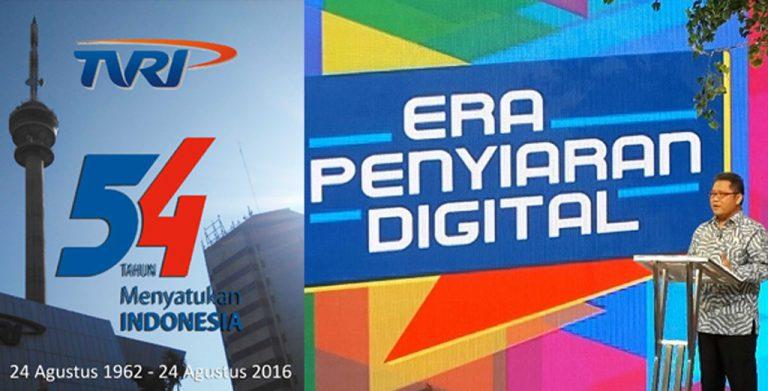 Rayakan HUT ke-54, TVRI Gelar Siaran Digital di 29 Kota Indonesia
