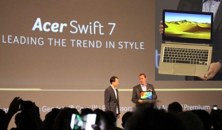 IFA 2016: Swift 7 Jadi Ultrabook Acer Pertama dengan Prosesor Intel Terbaru Generasi Ke-7 Kaby Lake