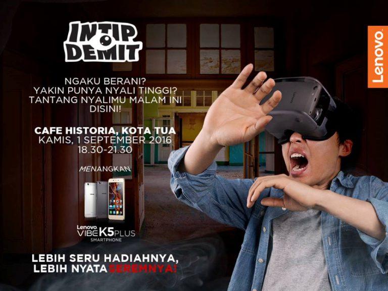 """Hari Ini Lenovo Tantang Pengguna Smartphone untuk """"Intip Demit"""" dengan VIBE K5 Plus"""