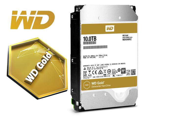 Western Digital Tingkatkan Kapasitas WD Gold Sebanyak 25 Persen