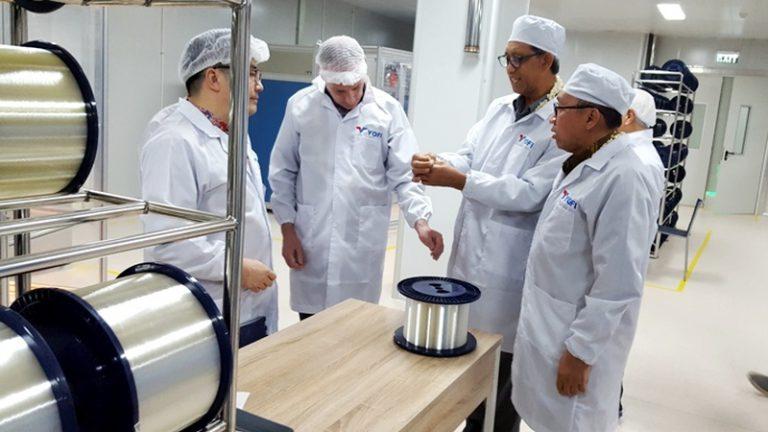 Pertama di ASEAN, Pabrik Kabel Serat Optik PT YOFI di Karawang