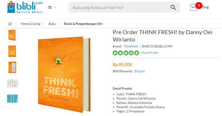 THINK FRESH! Karya Danny Oei Laku Keras di Blibli.com