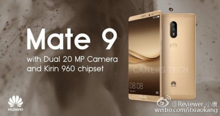 Flagship Huawei Ascend Mate 9 dengan Dual Camera dan Kirin 960 Siap Meluncur November