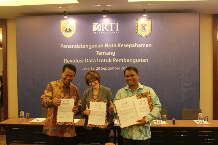 RTI International Jalin Kerjasama Revolusi Data untuk Pembangunan dengan Dua Kabupaten