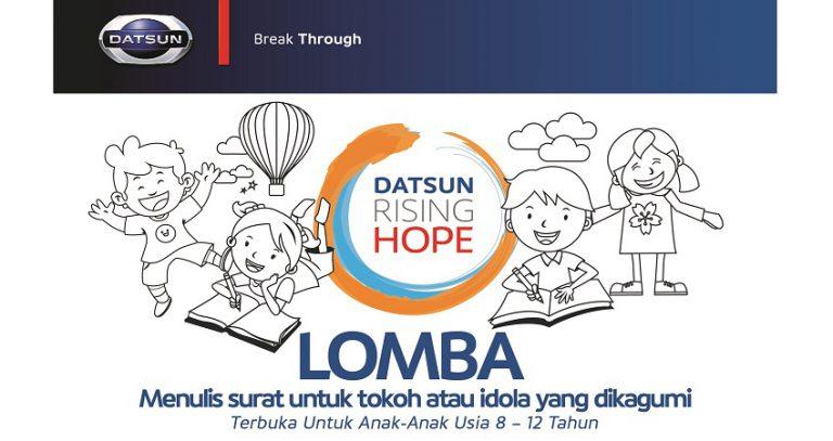 Asah Kreativitas Anak, Datsun Rising Hope 2 Gelar Lomba Menulis Surat