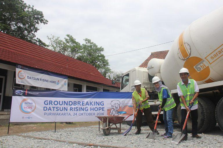 Datsun Rising Hope 2 Terus Bergulir, Tiga Lapangan Sekolah Dasar Kembali Dibenahi