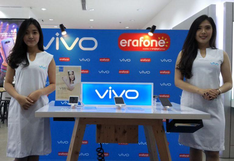Rangkaian Smartphone Vivo Kini Tersedia di 90 Gerai Erafone di Indonesia