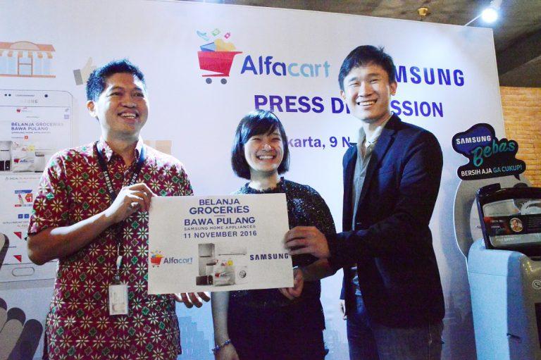 Alfacart Jalin Kerjasama dengan Samsung untuk Tingkatkan Minat Belanja Online