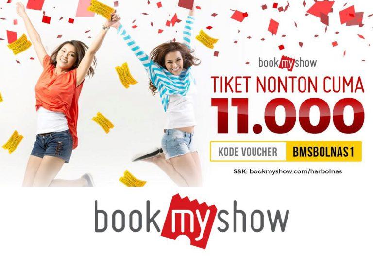 Hari ini, Pengguna BookMyShow Bisa Beli Tiket Bioskop Hanya Rp 11 Ribu