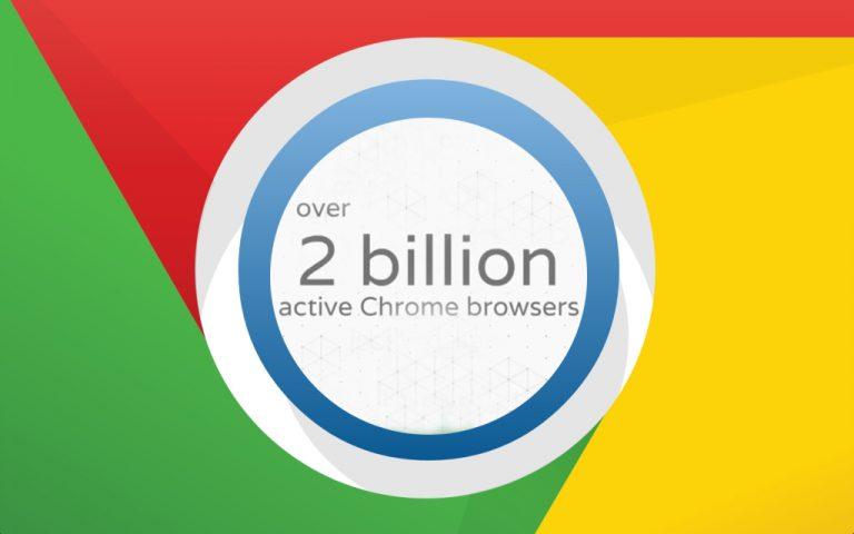 Google: 2 Miliar Perangkat Sudah Terpasang dengan  Browser Chrome