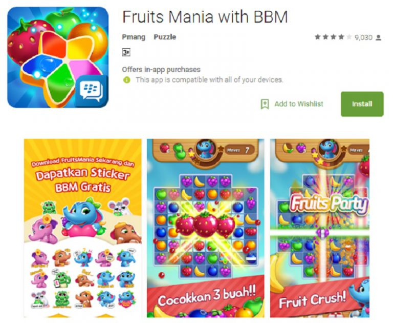 BlackBerry Messenger Rilis Fruits Mania with BBM di Indonesia