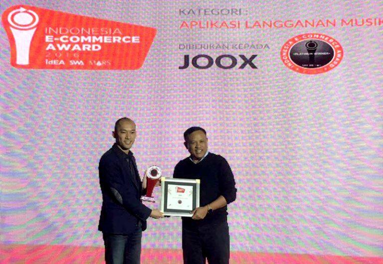 JOOX Raih Platinum Award dalam Ajang Indonesia E-Commerce Award 2016