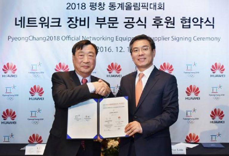 Huawei Terpilih Sebagai Penyedia Jaringan Resmi Olimpiade Musim Dingin PyeongChang 2018