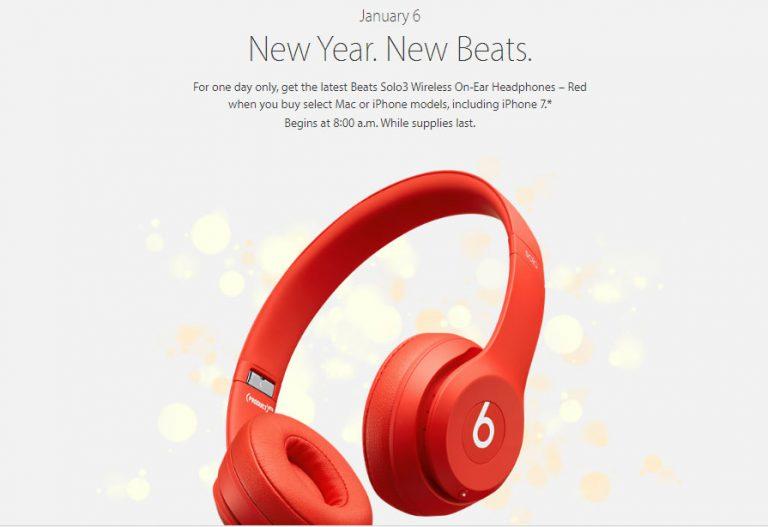 Sambut Imlek, Tanggal 6 Januari 2017 Apple Beri Beats 3 Solo untuk Pelanggannya
