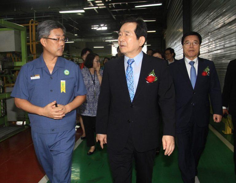 Ketua Parlemen Korea Selatan Sambangi Pabrik Hankook Tire di Cikarang