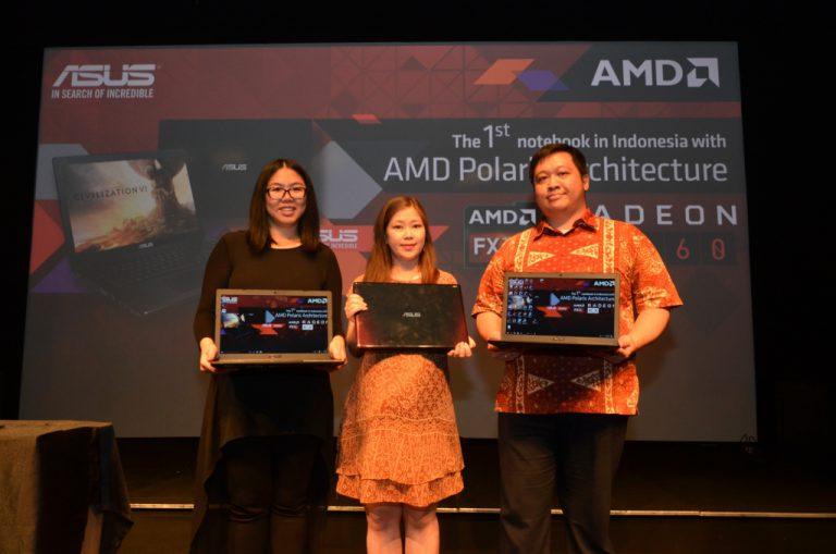 Harga 9,5 Jutaan, Asus X550IU Jadi Laptop Gaming Pertama di Indonesia dengan GPU AMD Polaris