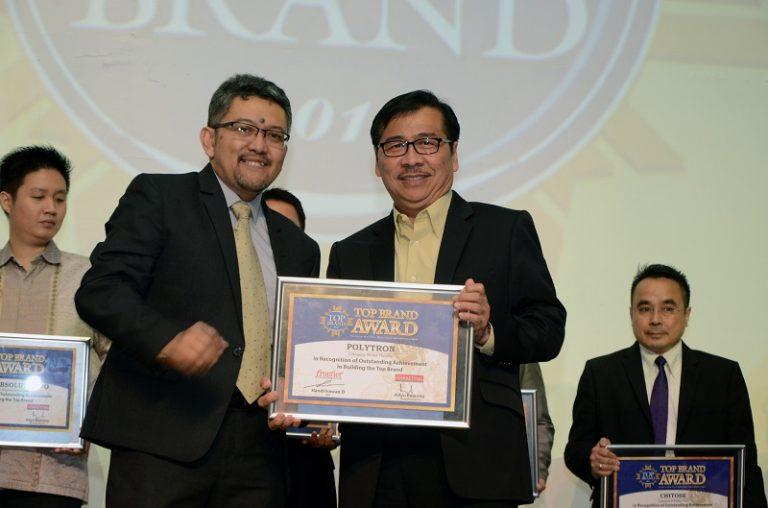 Dua Penghargaan Diraih Polytron Diajang Top Brand Award 2017