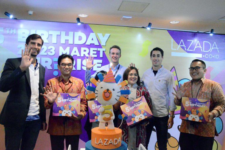 Surprise, Rayakan HUT ke-5 Lazada Indonesia Gelar Kejutan Menarik