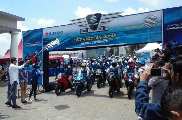 Pengguna Roda Dua Suzuki di Medan dan Malang Kumpul Bareng dalam Suzuki Bike Meet 2017