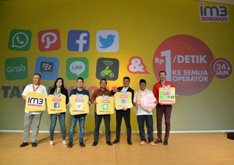 Indosat Ooredoo Luncurkan Paket Aplikasi Bebas Kuota dan Nelpon Rp 1 Per Detik ke Semua Operator