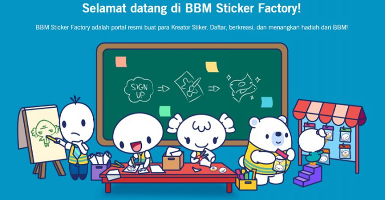 BBM Undang Kreator Stiker dengan Menghadirkan BBM Sticker Factory