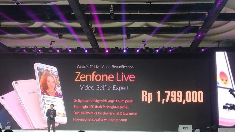 Mau Lakukan Live Streaming dengan Mudah? Asus Tawarkan ZenFone Live, The Video Selfie Expert
