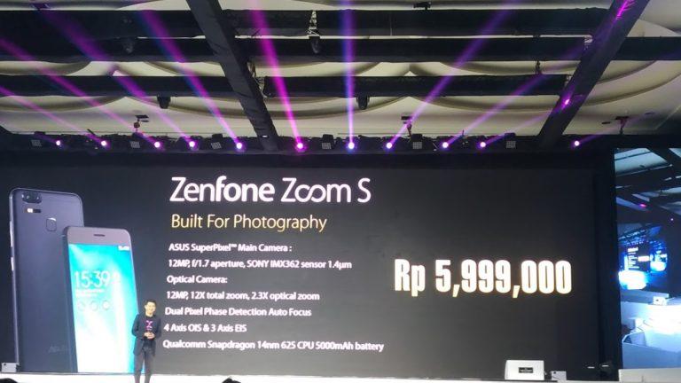 Asus ZenFone Zoom S ZE553KL, Smartphone Dual Lens Asus Berharga Rp 5.999.000