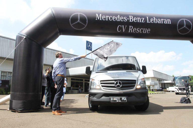 Lebaran Rescue 2017 Sukses, Mercedes Layani 108 Kendaraan Komersial Selama Libur Lebaran