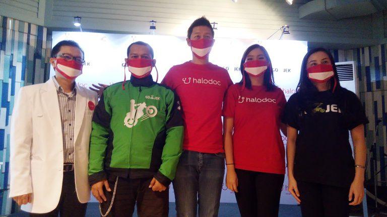 Halodoc dan GO-MED Bagikan Masker untuk Mitra Pengemudi GO-JEK