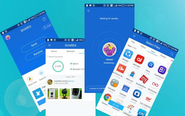 SHAREit, Aplikasi Transfer yang Kecepatannya Bisa 200 Kali Dibandingkan Bluetooth