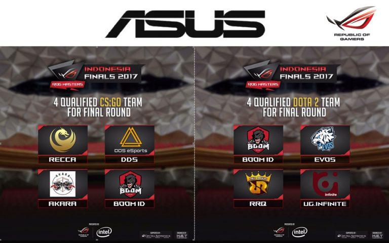 Hari Ini dan Besok, Delapan Tim Akan Perebutkan Titel Juara 1 DOTA 2 dan CS:GO dalam Babak Final ASUS ROG Masters 2017