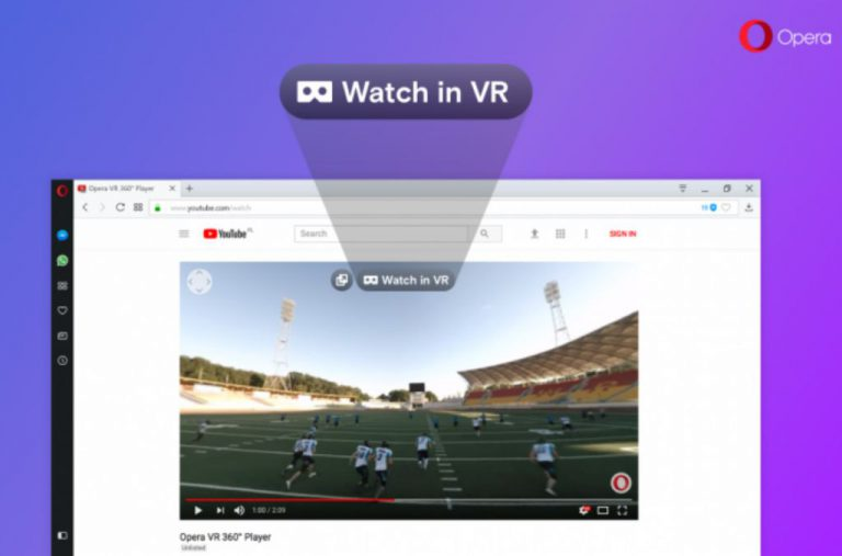 Sertakan VR 360 Player, Browser Opera Permudah Pengguna Headset VR Akses Konten Video 360