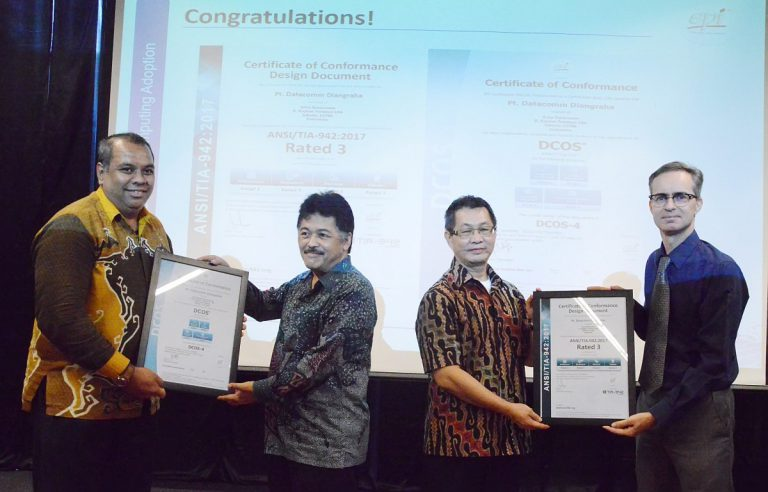Datacomm Cloud Business Raih Sertifikat ANSI/TIA-942:2017