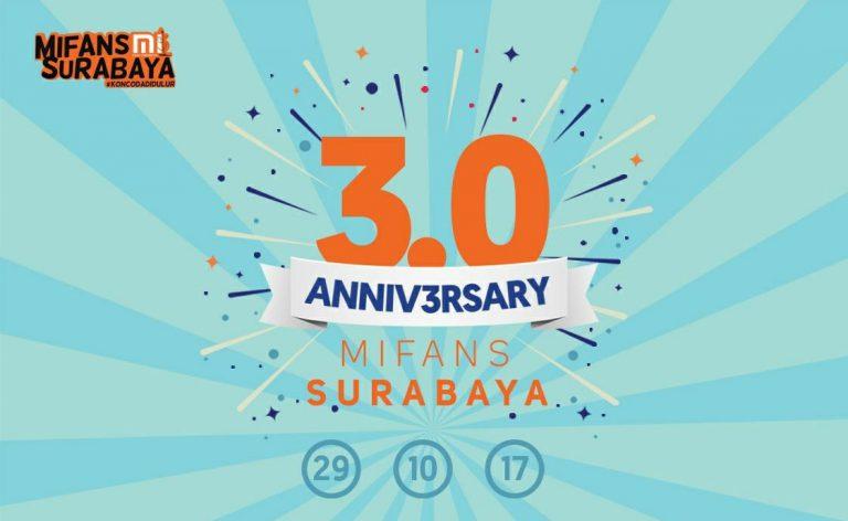 Mi Fans Surabaya Akan Rayakan HUT ke-3 Pada Minggu 29 Januari 2017