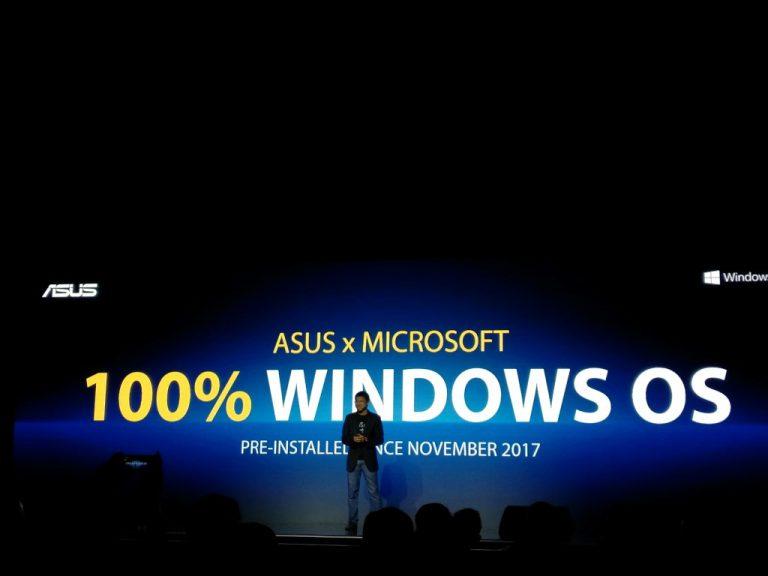 Asus Gandeng Microsoft: Mulai November 2017, Semua Notebook Baru Asus Ber-OS Microsoft Windows 10