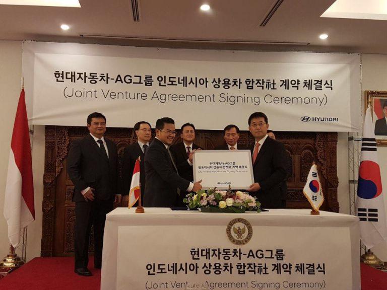 Ditandatangani di Korea Selatan, HOKI dan HMC Bersatu untuk Pasarkan Truk dan Bus di Indonesia