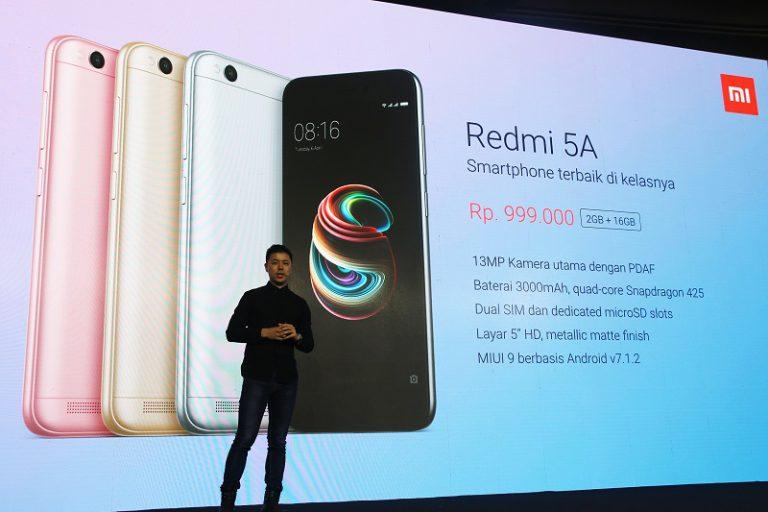 Resmi Diluncurkan, Redmi 5A Kado Terbaik Akhir Tahun untuk Konsumen Indonesia