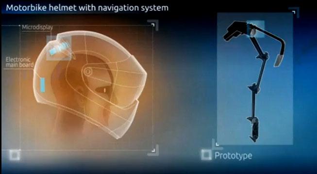 Insinyur Rusia Kembangkan Helm Motor Seperti Helm Pesawat Tempur