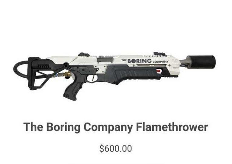 Penuhi Janji, Elon Musk akan Jual Senjata Flamethrower